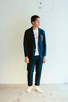 SWEAT WEATHER棉麻短袖上衣(男)
