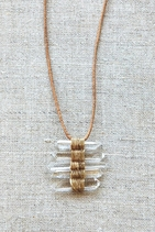 WOVEN CRYSTAL NECKLACE