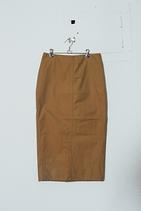 FINX CHAMBRAY GABADINE SKIRT 窄裙