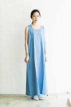 棉麻無袖洋裝