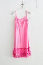 slip w/ruffles 桃紅荷葉邊洋裝