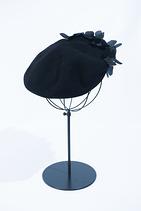 Silk flower beret