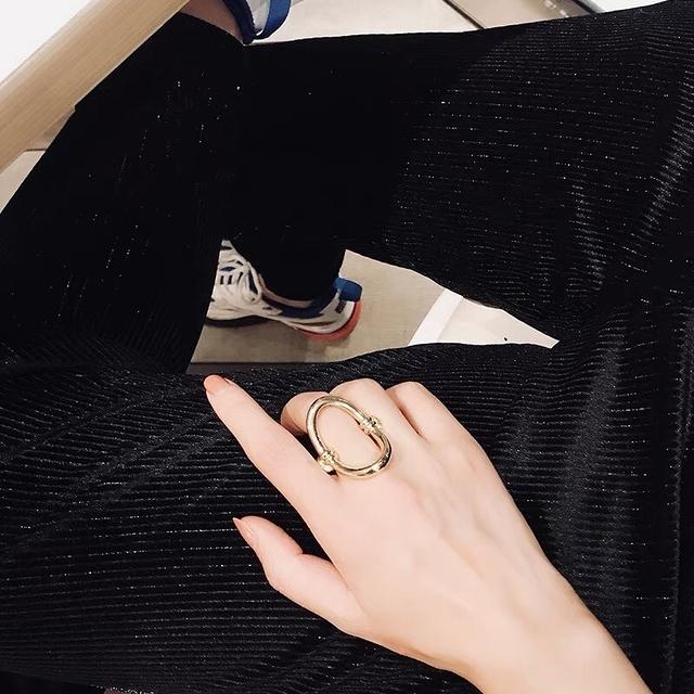 81B154 大理石金屬戒指(兩個一組/戒圍固定)