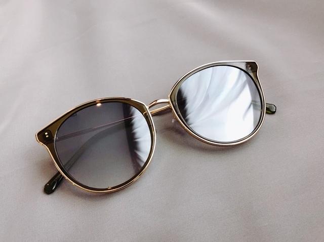 815102 金屬框貓眼墨鏡 -灰