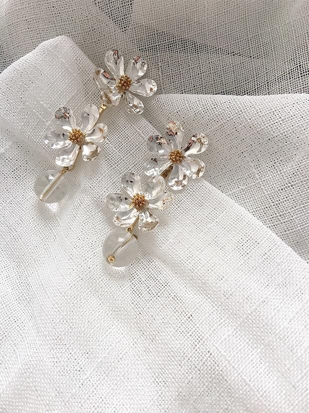 912012 浪漫花朵耳環