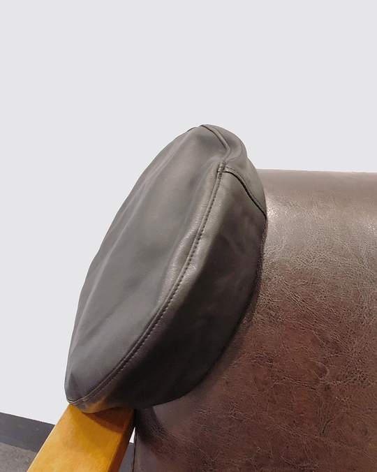 913135 皮感畫家帽 - 黑