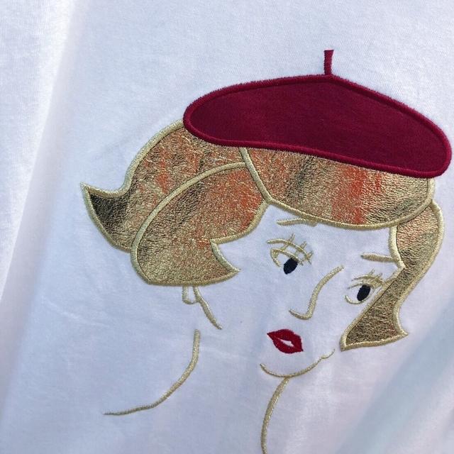 913085 小紅帽光澤棉tee - 四色