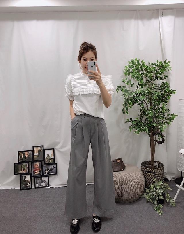 913019 帥氣西裝寬褲 - 兩色