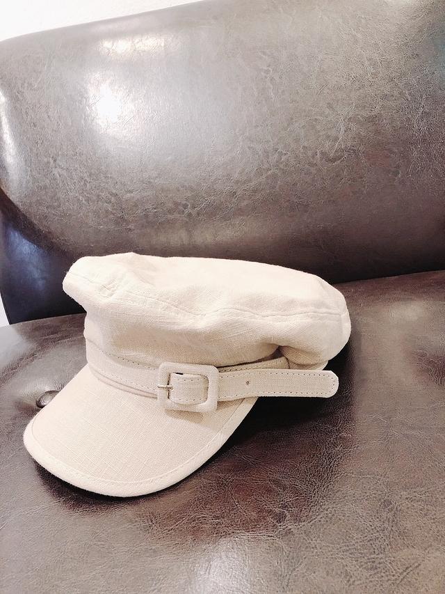 915112 調釦帶造型報童帽