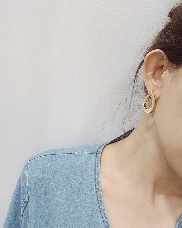 927216 歐美金屬水滴型耳環