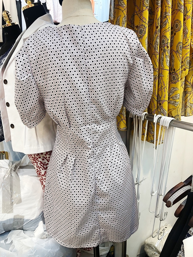 915090 office lady 幾何洋裝