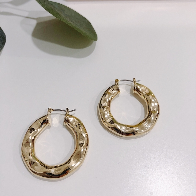 913112 個性金屬環狀耳環