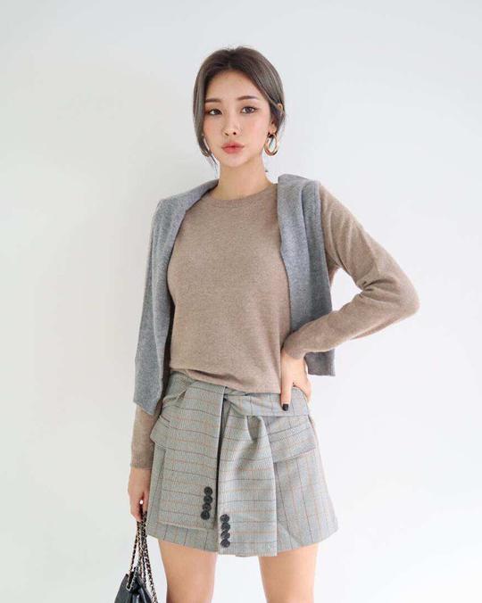 918067 綁帶造型裙 -M