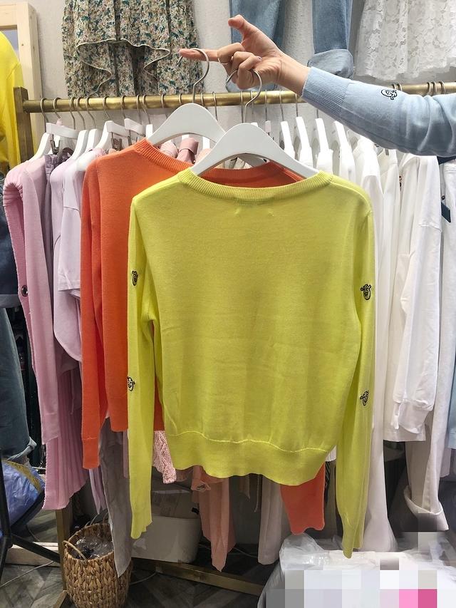 913020 史瑞克刺繡針織衫 - 橘
