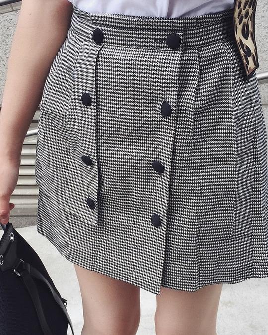 812035 簡單俐落造型短裙 - 格紋
