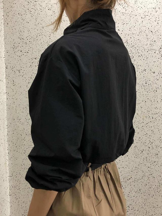 918036 短版立領拉鍊風衣 - 三色
