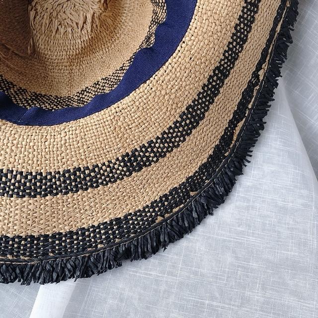 816106 酒椰草遮陽軟帽 - 藍