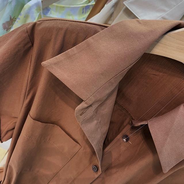 717017 時髦襯衫式連身褲