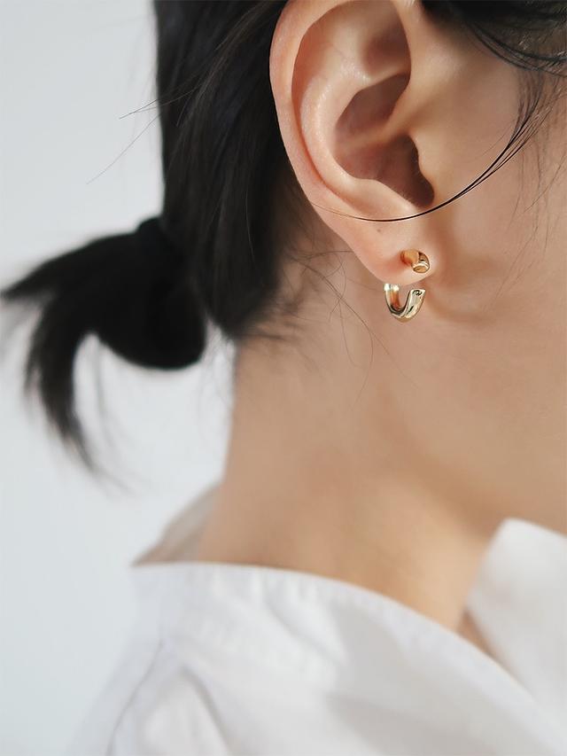 912010 時髦不對襯耳環