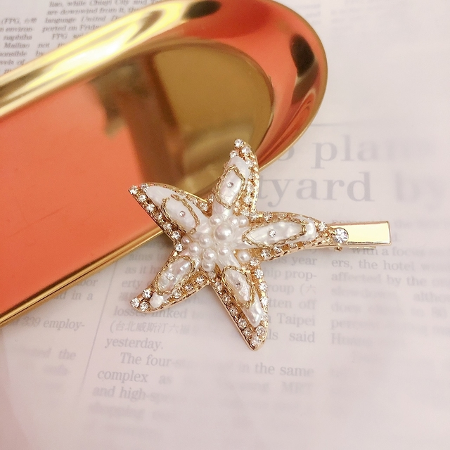 713074 海星珍珠髮夾