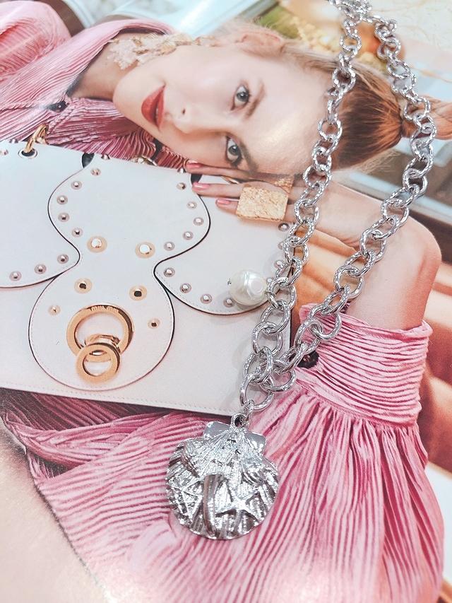 713076 金屬貝殼珍珠項鍊