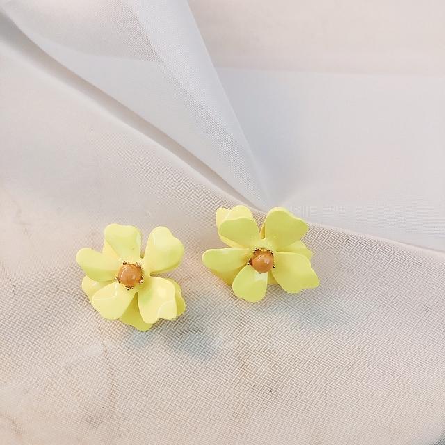 927206 繽紛花朵耳環 - 粉