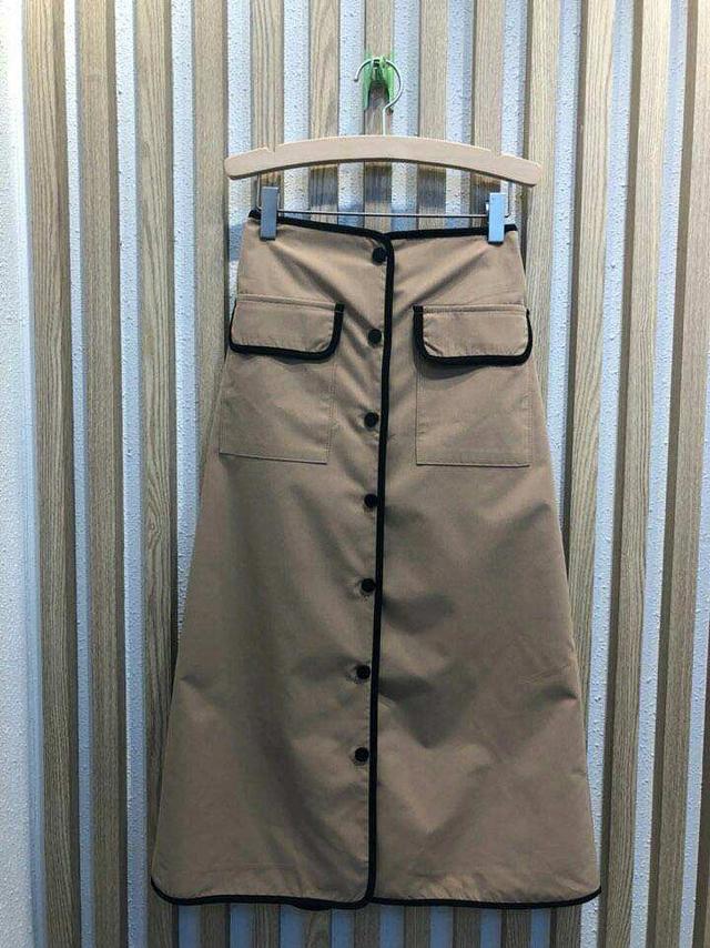918049 黑色收邊口袋裙 - 兩色