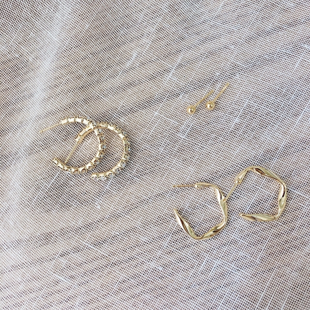 916137 環狀三款耳環組 - 兩款