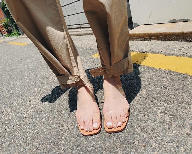 916099 透明水晶涼拖鞋 - 36