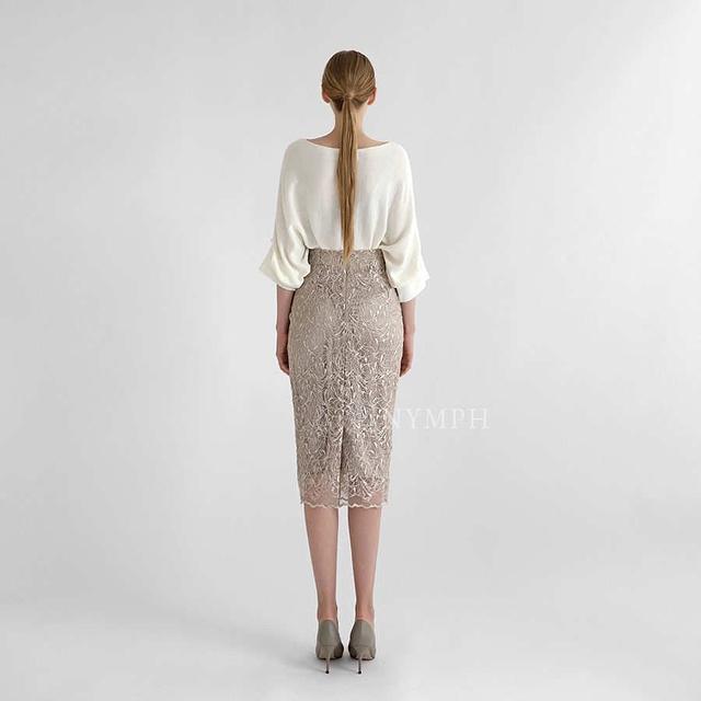 918029 超顯瘦線條蕾絲裙 - 兩色