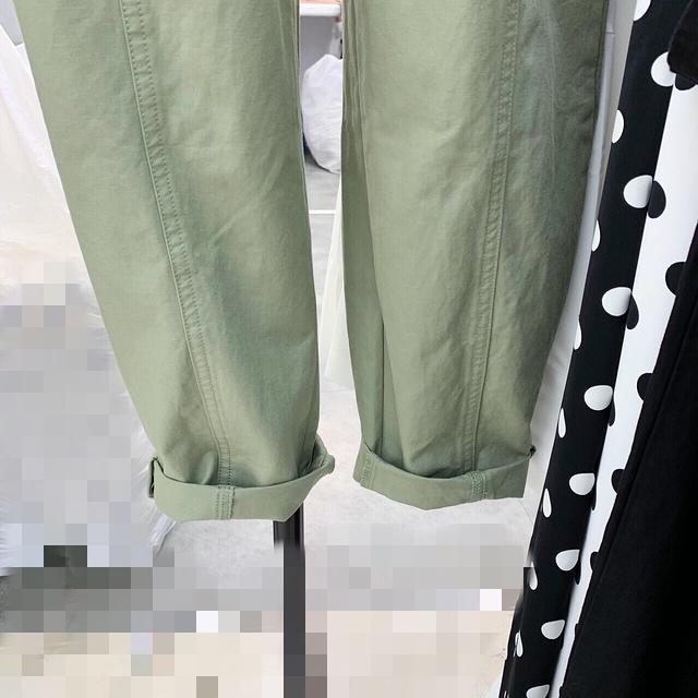 717032 吊帶縮繩吊帶褲 - 綠色