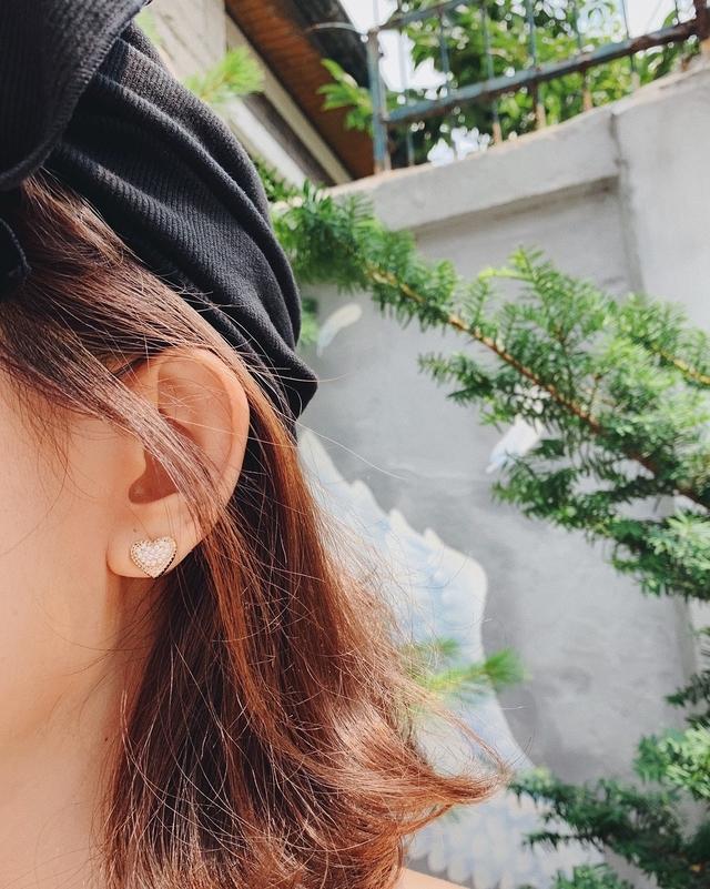 916159 立體珍珠愛心貼耳環