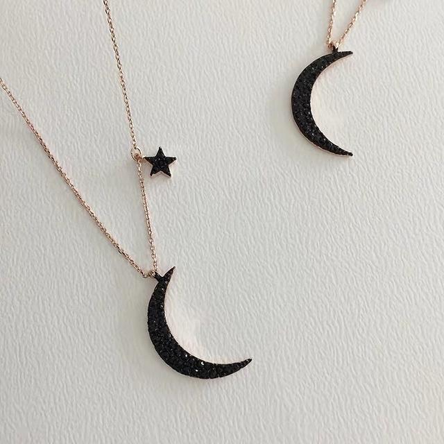 913710 星星月亮細項鏈