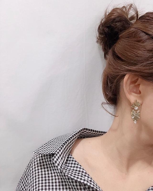 913121 復古寶石耳環 - 兩色
