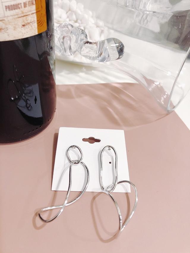 914155 不規則金屬耳環