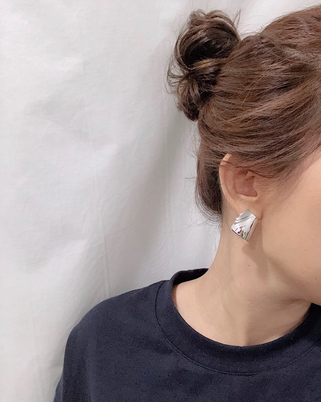 913125 個性金屬耳環 -銀