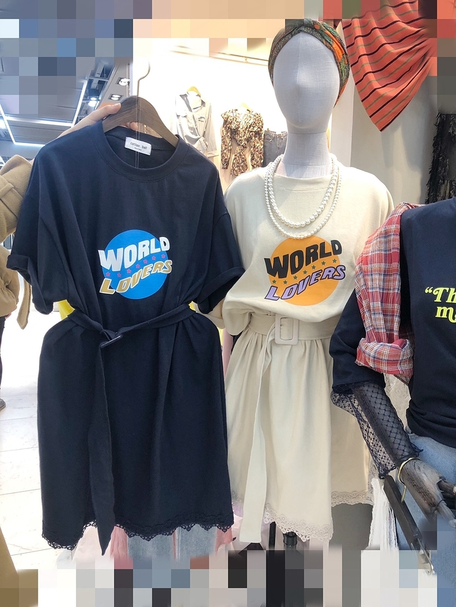 913054 World Lovers 棉質洋 -藍