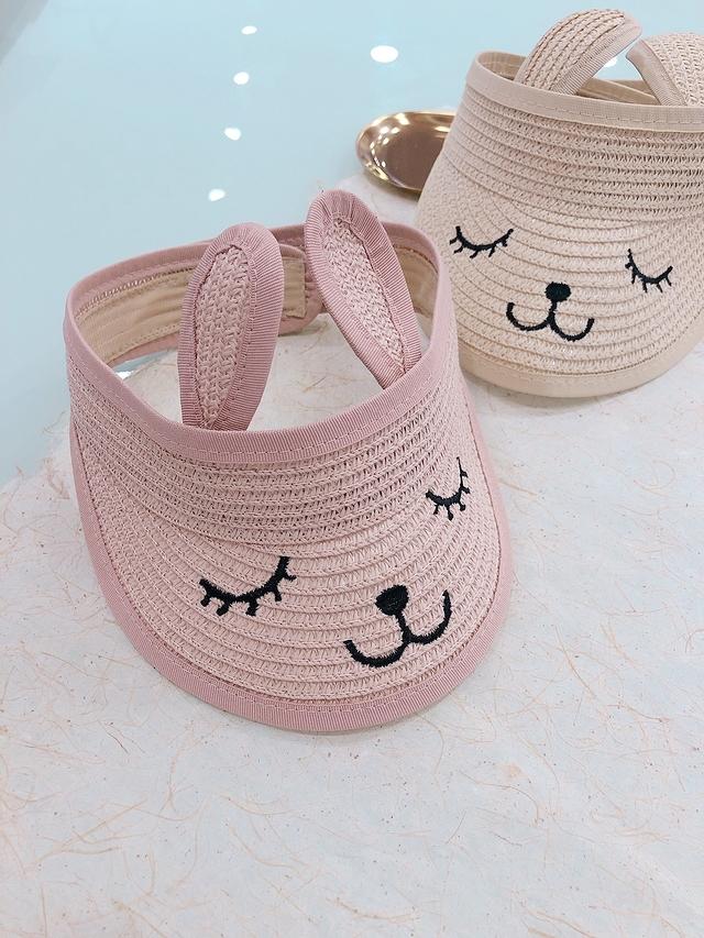 713071 小熊遮陽帽 - 粉色