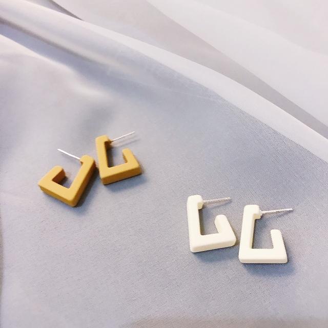 927210 方框極簡耳環 - 兩色