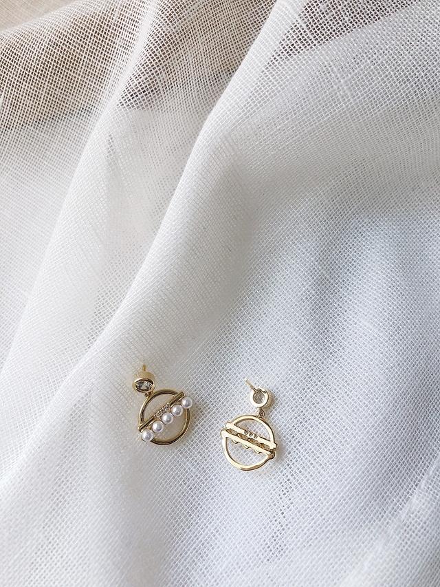 916158 精緻珍珠細鑽耳環