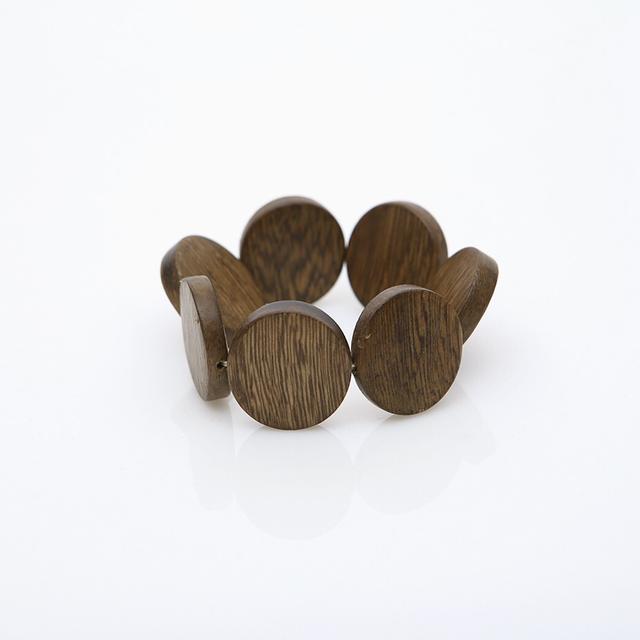 918071 自然風格圓形木頭手環
