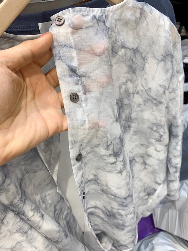 915016 蠶絲雪紡暈染襯衫