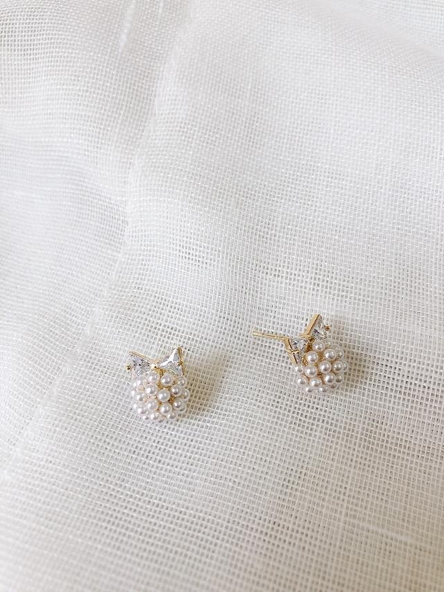 916157 小貓女珍珠耳環