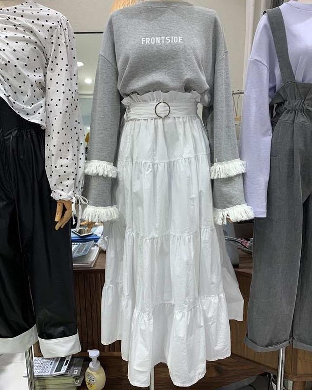 918024 公主系蛋糕裙 - 綠