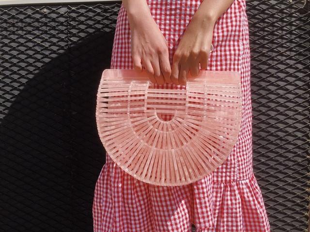 812092 時髦編織籠型提包 - 玳瑁