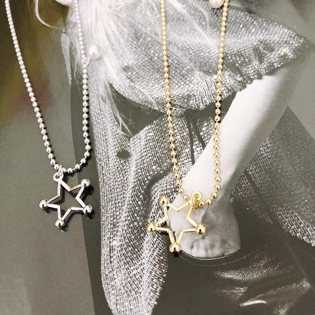 915152 五角星珍珠長鍊 - 兩色