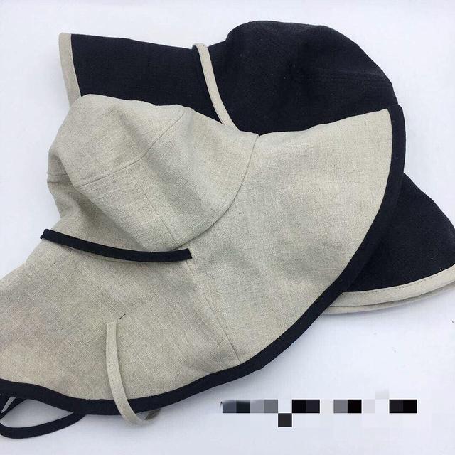915113 配色滾邊大帽簷漁夫帽