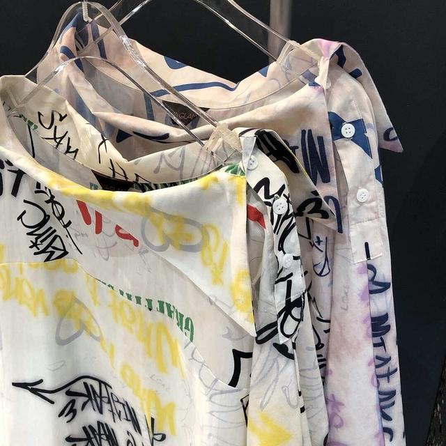 913502 塗鴉字母洋裝-兩色