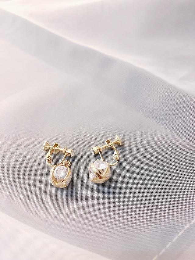 927220 垂墜寶石夾式耳環 - 耳夾款