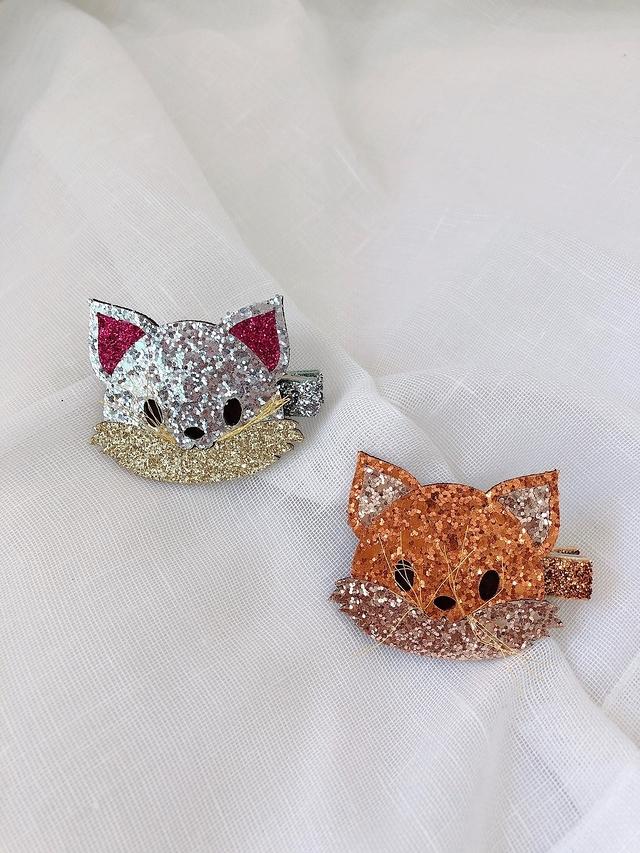 916130 小狐狸髮夾 -兩色